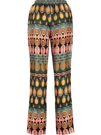 La DoubleJ Printed Twill Trousers