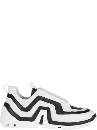Pierre Hardy Black And White Leather Sneakers