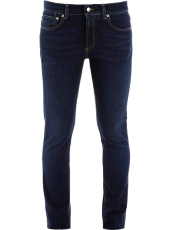 Alexander McQueen Slim Fit Jeans With Logo Embroidery