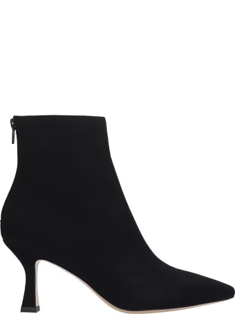 Fabio Rusconi Ankle Boots In Black Suede And Leather