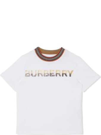 Burberry Shortbread Jersey T-shirt With Logo Print