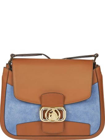 Lanvin Logo Plaque Flap Shoulder Bag