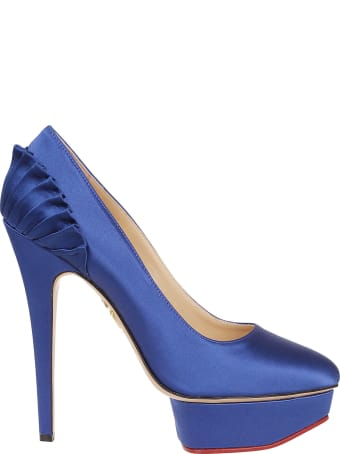 Charlotte Olympia Pleated Platform Pumps