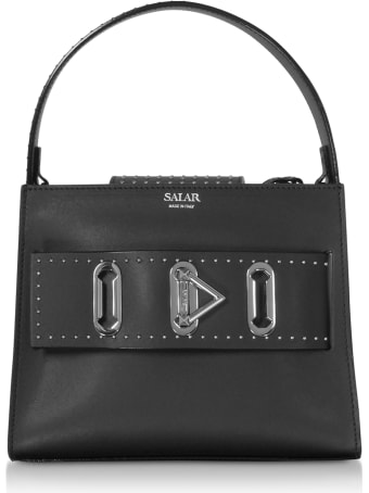 Salar Ludo Dots Leather Satchel Bag