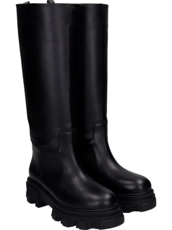 Gia X Pernille Teisbaek Low Heels Boots In Black Rubber/plasic
