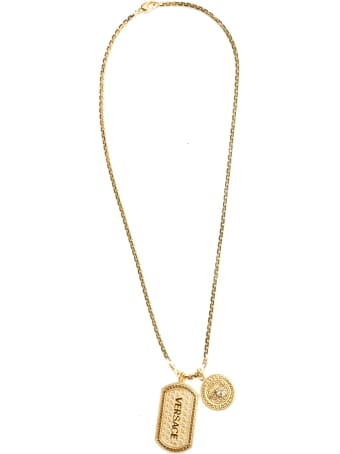 Versace 'iconic Guillochè' Necklace