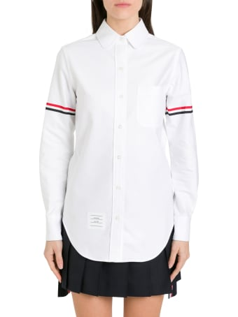 Thom Browne White Oxford Grosgrain Armband Shirt