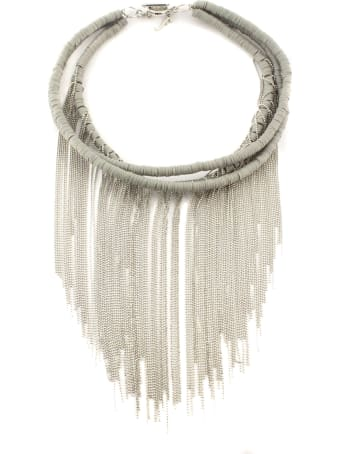 Fabiana Filippi Rubber And Light Point Necklace