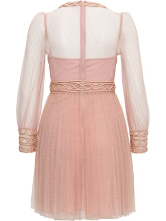 RED Valentino Point D'esprit Tulle Dress With Embroidery