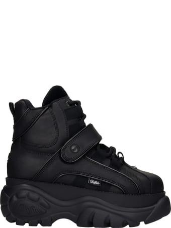 Buffalo Sneakers In Black Leather