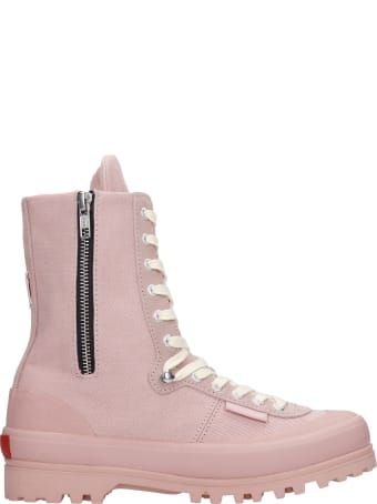 Superga Sneakers In Rose-pink Canvas