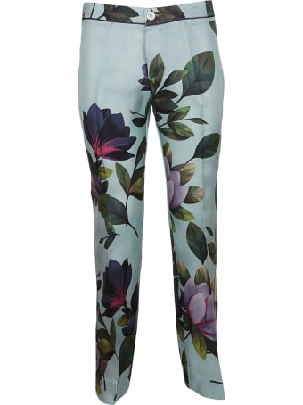 For Restless Sleepers Leafy Print Trousers