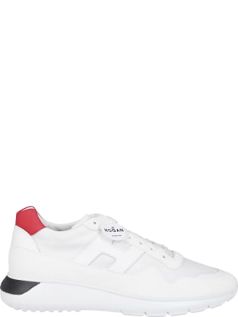 Hogan White Leather Interactive Sneakers