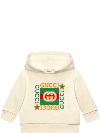 Gucci White Sweatshirt With Frontal Print