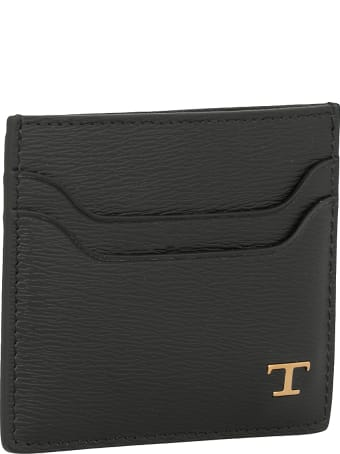 Tod's Card Holder With Logo Plaque