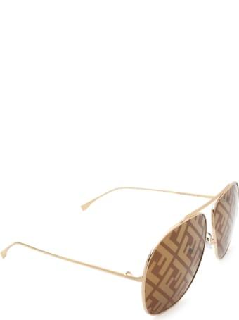 Fendi Fendi Ff 0407/g/s Gold Sunglasses