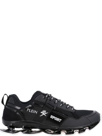 Plein Sport Sneakers Runner Cross Tiger Plein Sport Sneakers In Leather And Micro-mesh