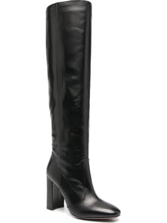 L'Autre Chose High Boots In Black Leather