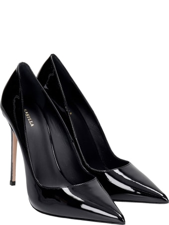 Le Silla Deco Eva 120 Pumps In Black Patent Leather