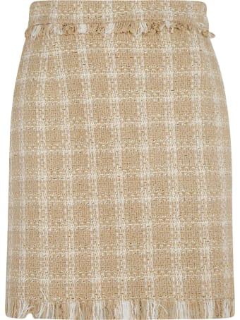 MSGM Fringed Detail Skirt