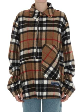 WE11 DONE Unisex Plaid Shirt