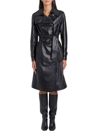 ARMA Nana Cocco Prited Leather Trench