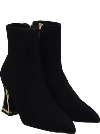 Kat Maconie Joanna High Heels Ankle Boots In Black Suede