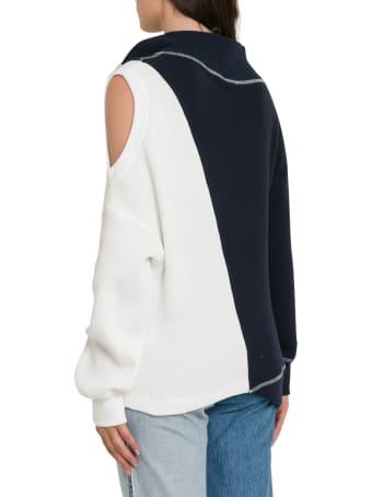 MONSE Cold Shoulder Split Sweatshirt