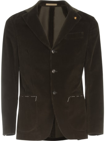 Sartoria Latorre Velvet Jacket W/patch Pockets
