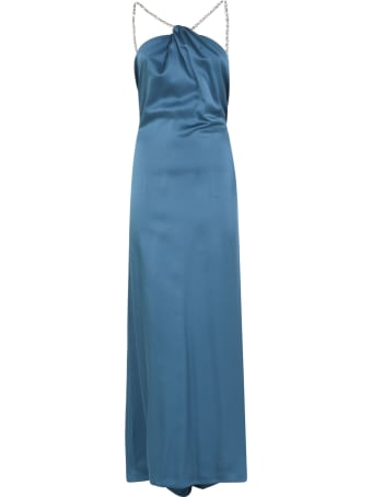 Amen Enver Satin Long Dress