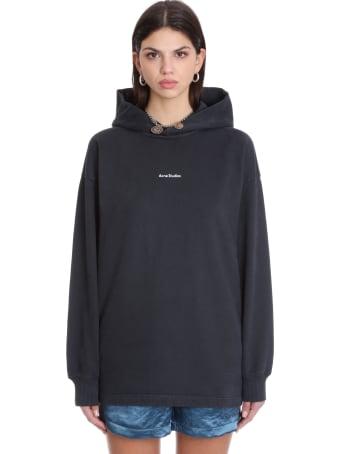 Acne Studios Fikka Stamp Sweatshirt In Black Cotton