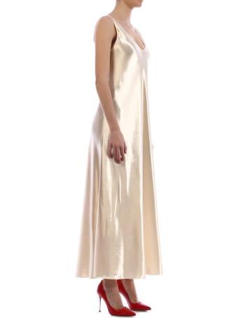 The Row Satin Gala Dress Gold