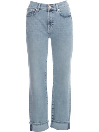 7 For All Mankind Relaxed Skinny Slim Illusion Pier