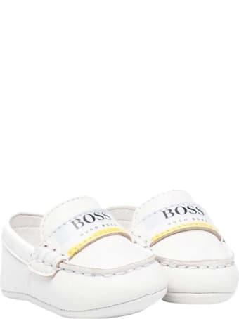 Hugo Boss White Loafers