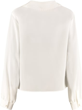 Miu Miu Long-sleeved Silk Shirt