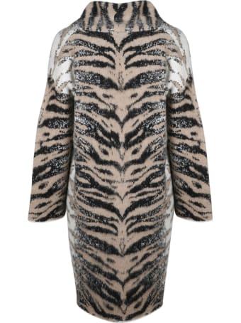Laneus Animalier Knit Coat