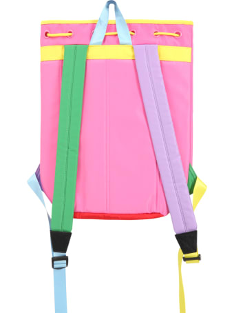 Little Marc Jacobs Multicolor Backpack For Girl With Logo