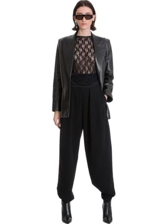 Magda Butrym Pants In Black Cotton