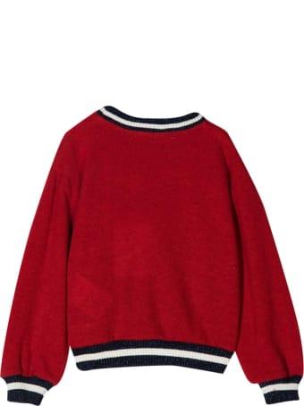 Miss Blumarine Short Red Sweatshirt
