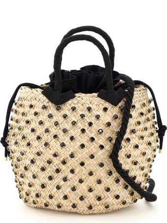 Le Niné Nina Large Basket Bag S2-23980 Crystal Cotton