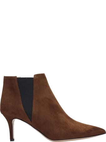 Fabio Rusconi Ankle Boots In Brown Suede