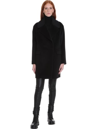 Tagliatore 0205 Astrid Coat In Black Wool