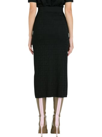 Fendi Ff Knit Skirt