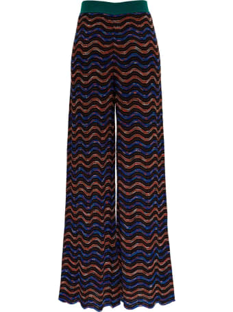 M Missoni Multicolor Wool Blend Trousers
