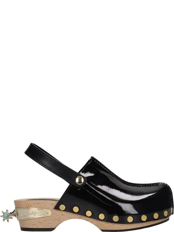 Elsa Nilsson Flats In Black Patent Leather