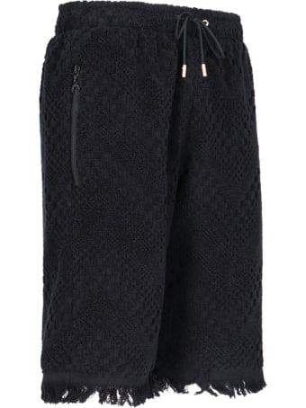 Marine Serre Towel Bermuda Short