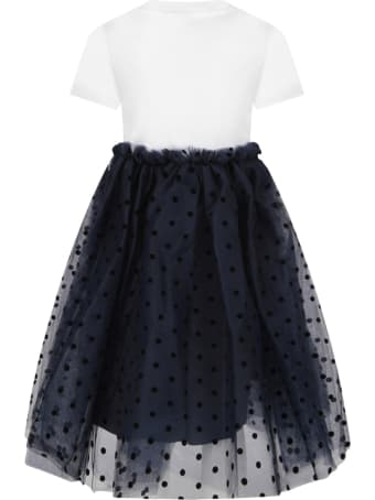Oscar de la Renta Bicolor Dress For Girl