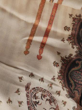 Etro Beige Cashmere-silk Blend Scarf
