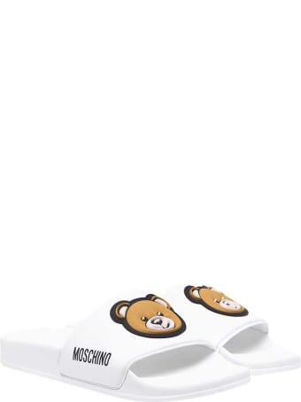 Moschino White Slippers