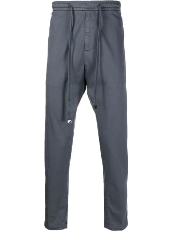 Dondup Grey Stretch-cotton Track Pants